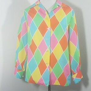 Vintage color Diamond top